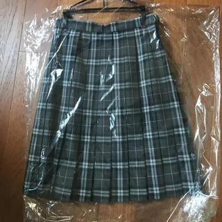 藤村中学 高校 旧制服 チェックスカート グレー系(衣装)