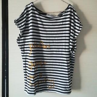 ツモリチサト(TSUMORI CHISATO)のtsumori chisatoボーダーTシャツ(Tシャツ(半袖/袖なし))