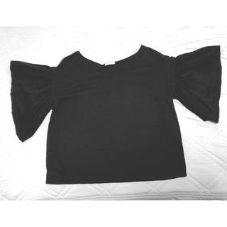 ジーユー(GU)のgu フリルトップス(カットソー(半袖/袖なし))