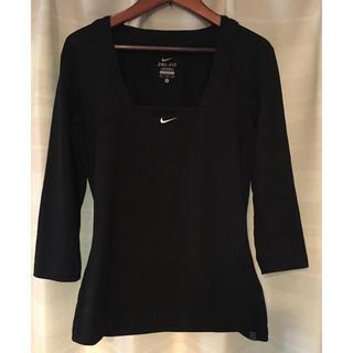 ナイキ(NIKE)のNike DRI- FIT ナイキ 6部袖Tシャツ ブラック(ウェア)
