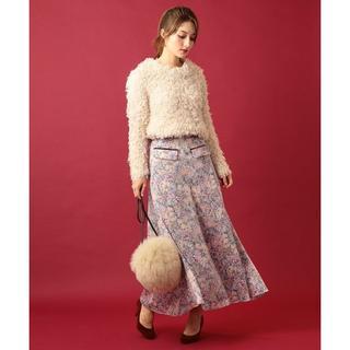 ミーアンドミークチュール(me & me couture)の17年物 ME&ME COUTURE フラワーガーデン ロングスカート(ロングスカート)