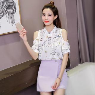 ⭐︎セール⭐︎夏バーゲン シフォン シャツ レディース XL(Tシャツ(半袖/袖なし))