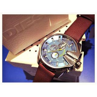 ディーゼル(DIESEL)の【正規品新品】DIESELメンズ腕時計メガチーフ青茶【定価3万】(金属ベルト)