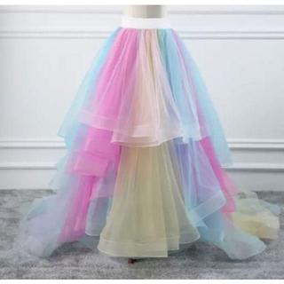 ♡レインボーオーバースカート♡トレーン♡ドレス ウエディングドレス用