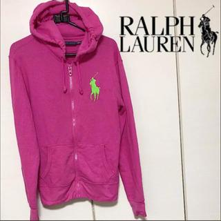 ラルフローレン(Ralph Lauren)のラルフローレン M ビックポニー 薄手 スウェット パーカー レディース キッズ(パーカー)