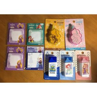 ディズニー(Disney)のディズニーキャラクター テープのり 5個 ・ふせん 4冊(その他)