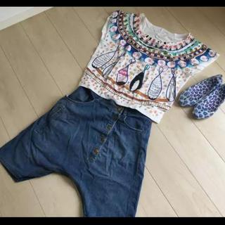 ツモリチサト(TSUMORI CHISATO)のツモリチサト ラメ Tシャツ 個性的(Tシャツ(半袖/袖なし))