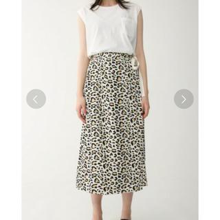 マウジー(moussy)のマウジー レオパード スカート(ひざ丈スカート)