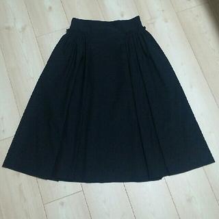 エムプルミエ(M-premier)の【美品】M-PREMIER BLACK ギャザースカート✨(ひざ丈スカート)