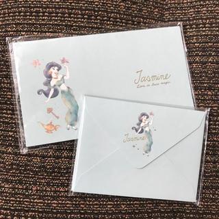 ディズニー(Disney)の新品♡ジャスミン ミニレターセット(カード/レター/ラッピング)