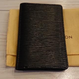ルイヴィトン(LOUIS VUITTON)のルイ・ヴィトン カードケース(定期入れ) エピ 黒(名刺入れ/定期入れ)