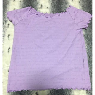 ジーユー(GU)のGU 薄紫 オフショル(カットソー(半袖/袖なし))