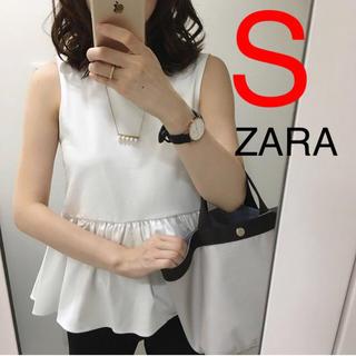 ザラ(ZARA)のZARA 裾フリル トップス フリル シャツ ブラウス(カットソー(半袖/袖なし))