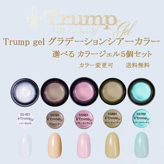 【春色 新色】Trumpグラデーションシアー カラージェル5個セット(カラージェル)