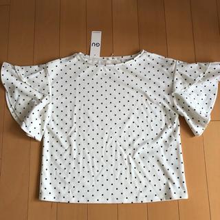 ジーユー(GU)のGUドットフリルスリープT(カットソー(半袖/袖なし))
