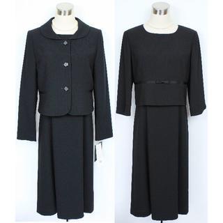 ソワール(SOIR)の新品15号 カルヴェン 黒 アンサンブル ブラックフォーマル東京ソワール(礼服/喪服)