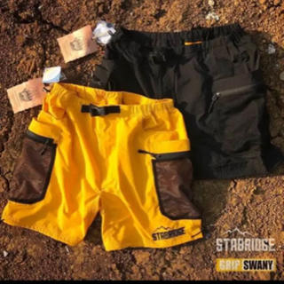 STABRIDGE × GRIPSWANY  SHORTS 黄色 黒 ショーツ(ショートパンツ)