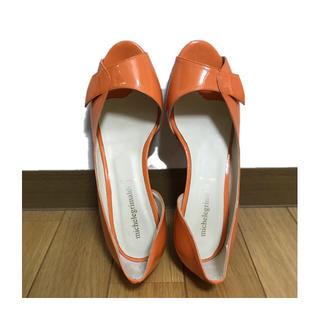 パンプス オレンジ(ハイヒール/パンプス)