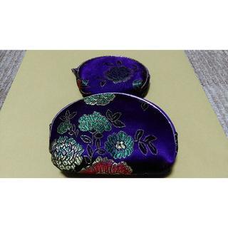 アジアン2連ポーチセット(4色)/アジアン雑貨/マトリョーシカポーチ(ボディバッグ/ウエストポーチ)