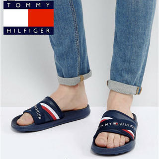 トミーヒルフィガー(TOMMY HILFIGER)の【 24-25cm】Tommy Hilfiger ロゴ サンダル トミー(サンダル)