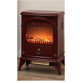 ニトリ(ニトリ)のニトリ 暖炉型ファンヒーター 赤色(ファンヒーター)