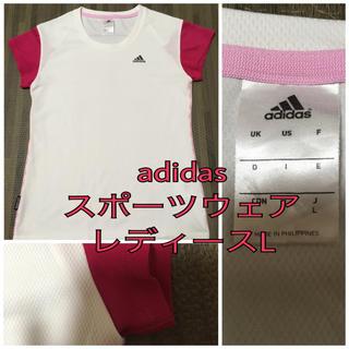 アディダス(adidas)のアディダス Tシャツ レディース L(Tシャツ(半袖/袖なし))