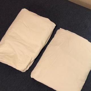 ムジルシリョウヒン(MUJI (無印良品))の無印 ボックスシーツ  クイーン サイズ 2点セット(シーツ/カバー)