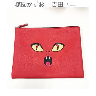 【楳図かずお】吉田ユニ コラボ ポーチ 猫目小僧ver. クラッチバッグ(クラッチバッグ)