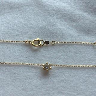 アーカー(AHKAH)のアーカー ロシアンダイヤモンド ネックレス K18 ダイヤ AHKAH 0.13(ネックレス)