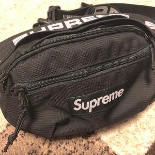シュプリーム(Supreme)のSupreme ウエストバッグ 18ss 黒 バッグ サコッシュ(ショルダーバッグ)