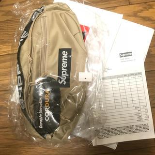 シュプリーム(Supreme)のsupreme 18ss Waist bag Tan beige 新品未使用。(ウエストポーチ)