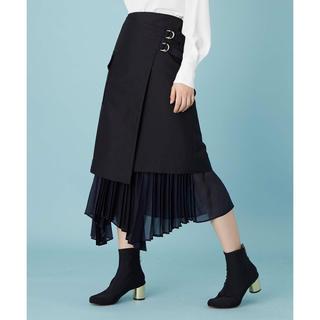 ステュディオス(STUDIOUS)のUNITED TOKYO プリーツレイヤードラップスカート(ロングスカート)