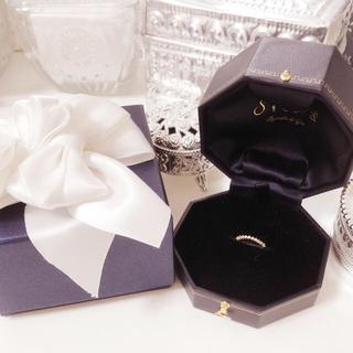 シエナ SIENA K18YG ダイヤモンド0.10ct(リング(指輪))