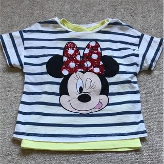 ザラ(ZARA)のTシャツ  ZARA  ミニーマウス  タンクトップ付き 104cm(Tシャツ/カットソー)