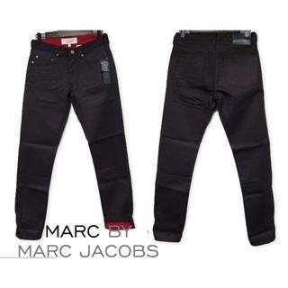 マークバイマークジェイコブス(MARC BY MARC JACOBS)の新品 MARC BY MARC JACOBS 赤黒ペイント加工風デニム W28(デニム/ジーンズ)