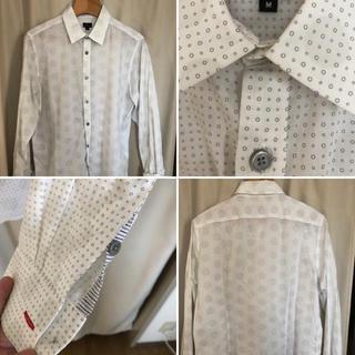 ポールスミス(Paul Smith)のポールスミス ドット柄 水玉模様 白シャツ メンズ Mサイズ(シャツ)