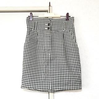 マウジー(moussy)のmoussy ギンガムチェックタイトスカート(ミニスカート)