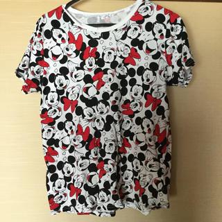 ディズニー(Disney)のミッキー ミニー 総柄 Tシャツ(Tシャツ(半袖/袖なし))
