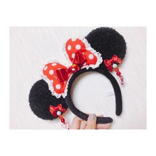 ディズニー(Disney)のディズニー♡ミニーちゃんカチューシャ(カチューシャ)
