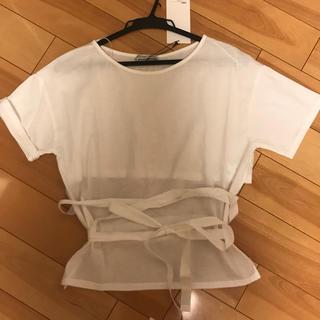 ザラ(ZARA)のZARA バックリボンTシャツ (Tシャツ(半袖/袖なし))