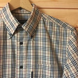 バーバリー(BURBERRY)の美品【 BURBERRY BLACK LABEL 】ノバチェック ブロードシャツ(シャツ)