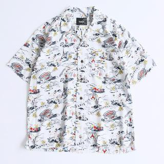 エディフィス(EDIFICE)の早い者勝ち! EDIFICE×PSG オープンカラーシャツ ホワイト(シャツ)