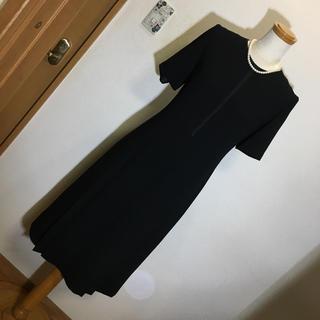 ソワール(SOIR)の東京イギン ブラックフォーマル 礼服 9号 美品 日本製 ワンピース(礼服/喪服)