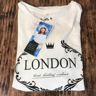 シマムラ(しまむら)の新品 しまむら HK WORKS LONDON ロゴ Tシャツ インスタ LL(Tシャツ(半袖/袖なし))