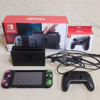 Nintendo Switch - 美品 Switch 本体 + コントローラー + スプラトゥーンamiibo