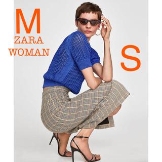 ザラ(ZARA)の新品未使用 ZARA チェック ハイウエスト ペンシルスカート M(ひざ丈スカート)