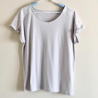 シマムラ(しまむら)の肩レースのトップス/Tシャツ(Tシャツ(半袖/袖なし))