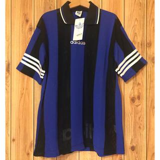 アディダス(adidas)のadidas アディダス ゲームシャツ 青 黒 Mサイズ 未使用 デサント 製(Tシャツ/カットソー(半袖/袖なし))