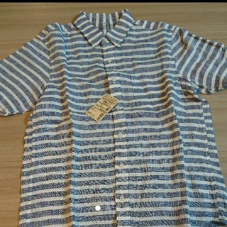 ムジルシリョウヒン(MUJI (無印良品))の無印良品 メンズ半袖ボーダーシャツ(Tシャツ/カットソー(半袖/袖なし))