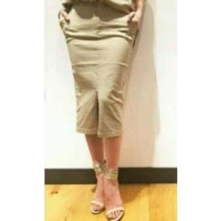 ドゥーズィエムクラス(DEUXIEME CLASSE)のストレッチタイトスカート/カーキ38(ひざ丈スカート)